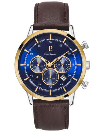 Montre Homme CAPITAL Cadran Bleu Bracelet Cuir Brun