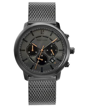 Quartz MEN Watch IMPULSION Grey Dial Grey Mesh Strap
