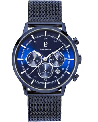 Quartz Men's Watch CAPITAL Blue Dial Blue Mesh steel Strap