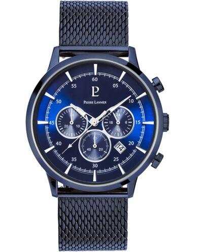 Quartz Men's Watch CAPITAL Blue Dial Blue Mesh steel Strap
