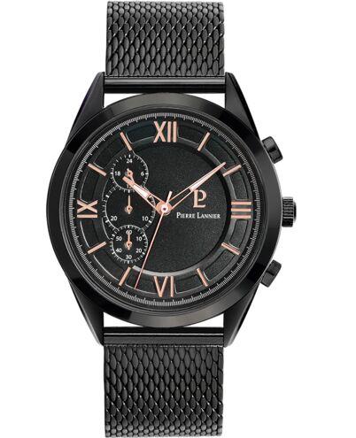 Montre Homme CAPITAL Cadran Noir Bracelet Acier milanais Noir