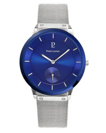Montre Homme DANDY Cadran Bleu Bracelet Acier milanais Argenté