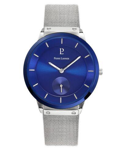 Quartz Men's Watch DANDY Blue Dial Silver Mesh steel Strap