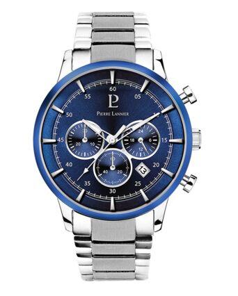 Quartz Men's Watch CAPITAL Blue Dial Silver Steel Strap