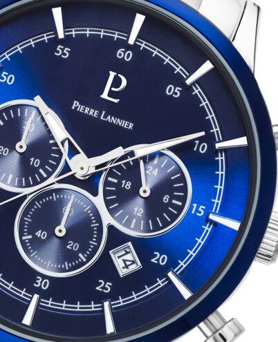 Montre Homme CAPITAL Cadran Bleu Bracelet Acier Argenté