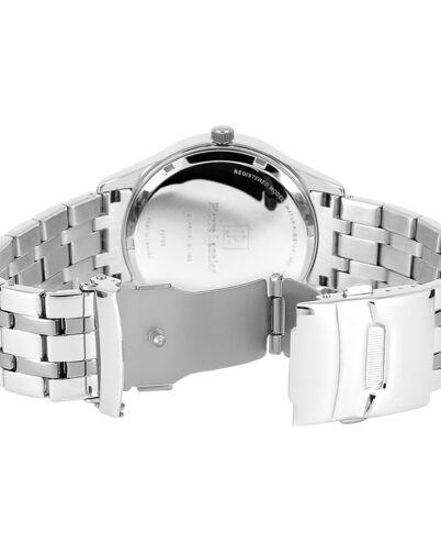 Quartz Men's Watch CLASSIC Black Dial Silver Steel Strap