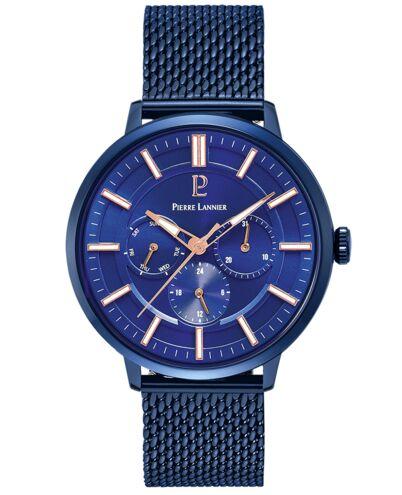 Montre Homme BEAUCOUR Cadran Bleu Bracelet Acier Milanais Bleu