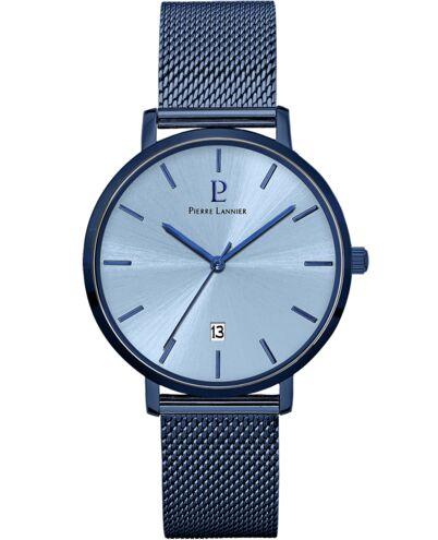 Montre Homme ECHO Cadran Bleu Bracelet Acier Milanais Bleu