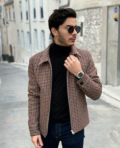 Montre Homme CONTRASTE Cadran Noir Bracelet Acier Argenté