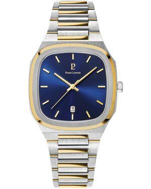 Montre Homme CONTRASTE Cadran Bleu Bracelet Acier Bicolore