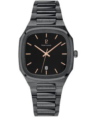 Quartz Men's Watch CONTRASTE Black Dial Black Steel Strap