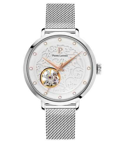 Automatic Ladies Watch EOLIA White Dial Silver Mesh Strap