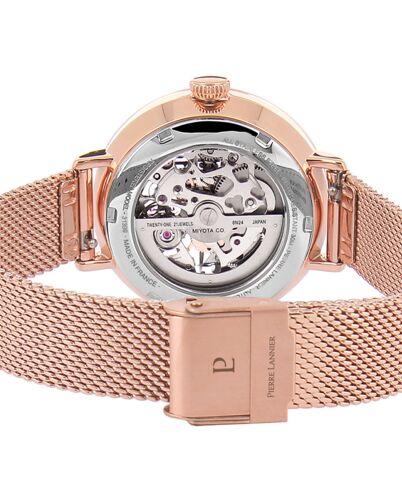 Montre Femme AUTOMATIC Cadran Argenté Bracelet Acier milanais Doré rose