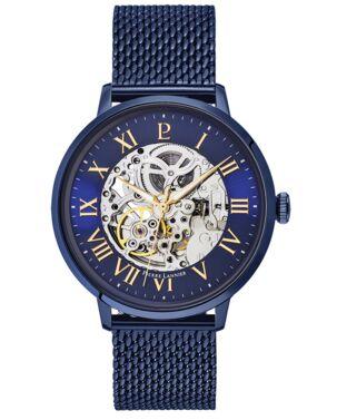 Montre Homme AUTOMATIC Cadran Bleu Bracelet Acier milanais Bleu