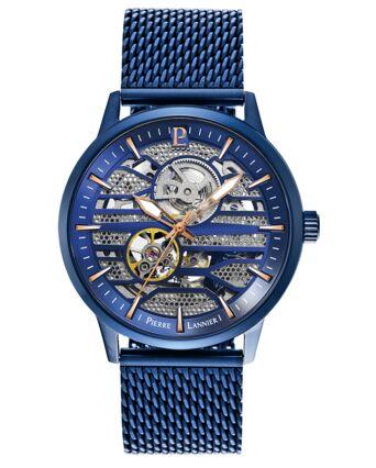 Automatic MEN Watch IMPACT Blue Dial Blue Mesh Strap