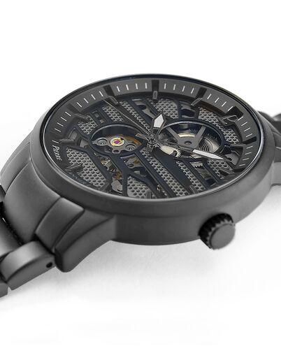 Automatic MEN Watch IMPACT Grey Dial Black Steel Strap