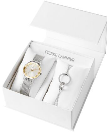 Quartz Ladies Set MULTIPLES Silver Dial Silver Mesh Strap