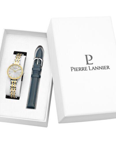 Coffret Femme NOVA Cadran Argenté Bracelet Métal Bicolore