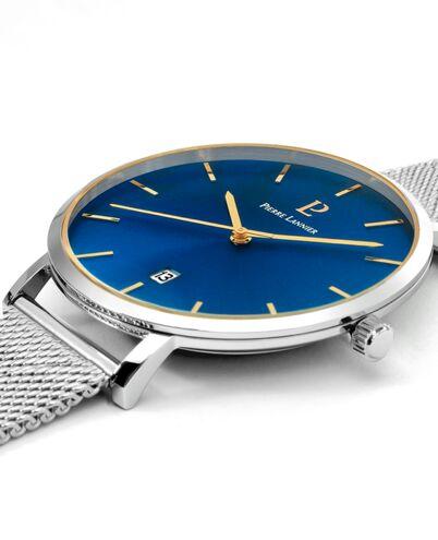 Coffret Homme ECHO Cadran Bleu Bracelet Acier milanais Argenté