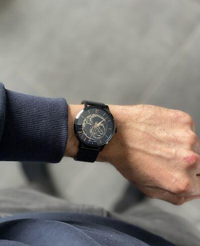 Coffret Homme RCS Cadran Bleu Bracelet Acier Milanais Bleu