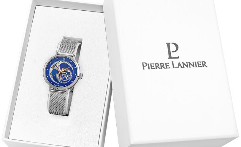 Montre Femme RCS Cadran Bleu Bracelet Acier Milanais Argenté