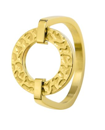 Ring CAPRICE steel gold 54mm