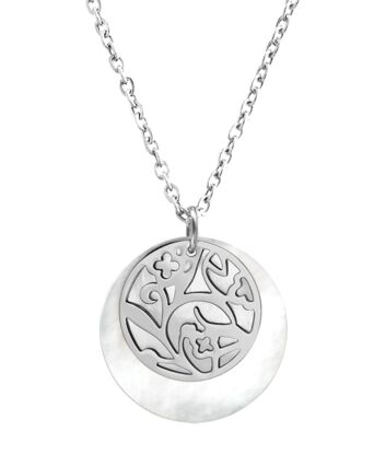 Necklace EOLIA steel silver
