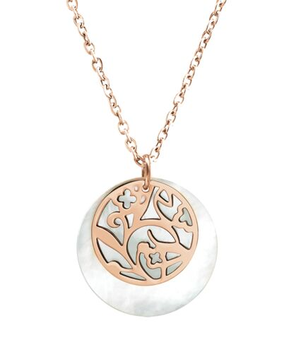Necklace EOLIA steel rose gold