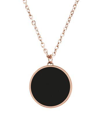 Necklace SYMPHONY steel rose gold black