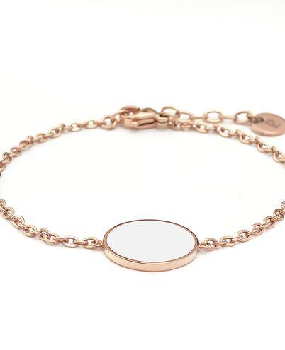 Bracelet SYMPHONY steel rose gold white