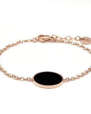 Bracelet Femme SYMPHONY Doré Rose & Noir