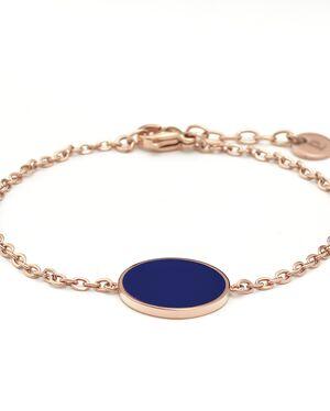 Bracelet Femme SYMPHONY Doré Rose & Bleu