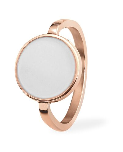 Ring SYMPHONY steel rose gold white 52mm