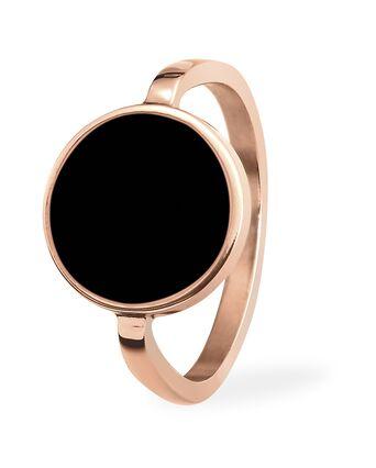 Ring SYMPHONY steel rose gold black 54mm