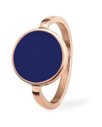 Ring SYMPHONY steel rose gold blue 54mm