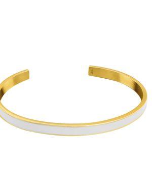 Bracelet Femme SYMPHONY Acier Doré Blanc