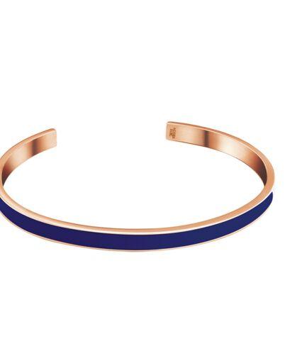 Bracelet bangle SYMPHONY steel rose gold blue