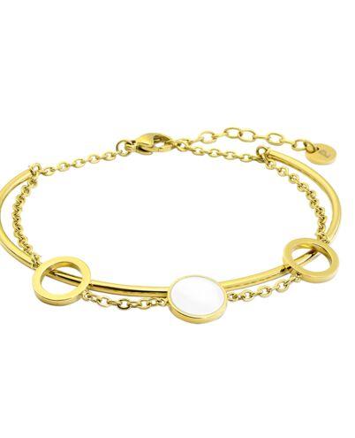 Bracelet Femme SYMPHONY Doré & Blanc