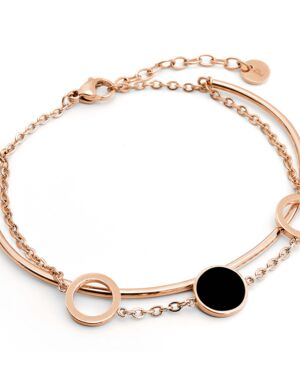 Bracelet Femme SYMPHONY Doré & Noir
