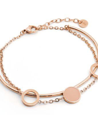 Bracelet Femme SYMPHONY Doré Rose & Blanc