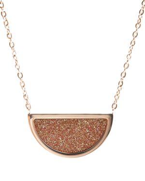 Necklace CRISTAL steel rose gold