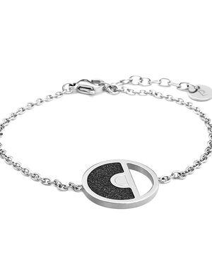 Bracelet CRISTAL steel silver black