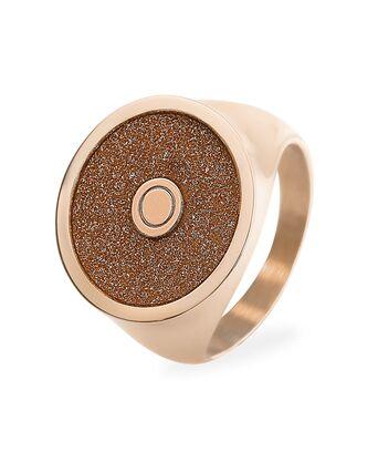Ring CRISTAL steel rose gold 54mm