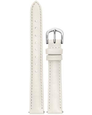 White Leather Ladies 14MM Strap