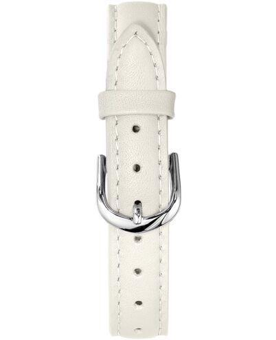 BRACELET DAME CUIR BEIGE BOUCLE ACIER 14 mm