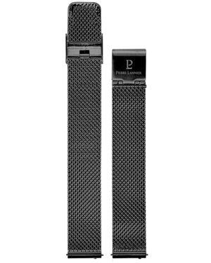 Bracelet Dame Milanais Acier Noir 14mm